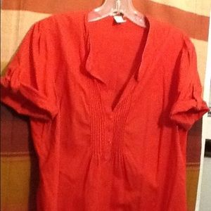 H M Women Tops Blouses Color Red On Poshmark